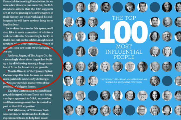 Andrew Argue Was Named Top 100 Most Influential Accountants Ones To Watch